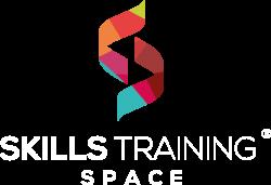 Logo Skills Training Space - Registere white